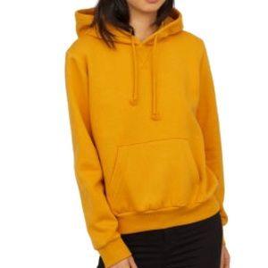 H&M Golden Yellow Oversized Hoodie Sweatshirt